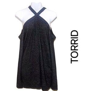 NWOT Torrid halter sweater (00)